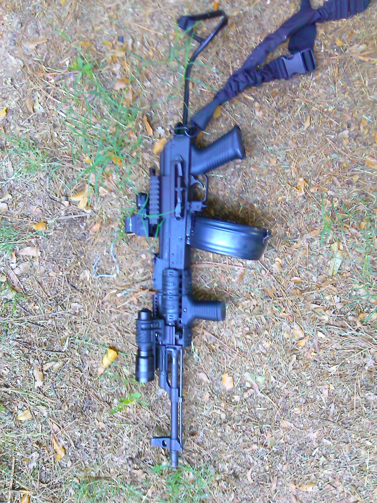 WASR-10 AK-47 with drum mag