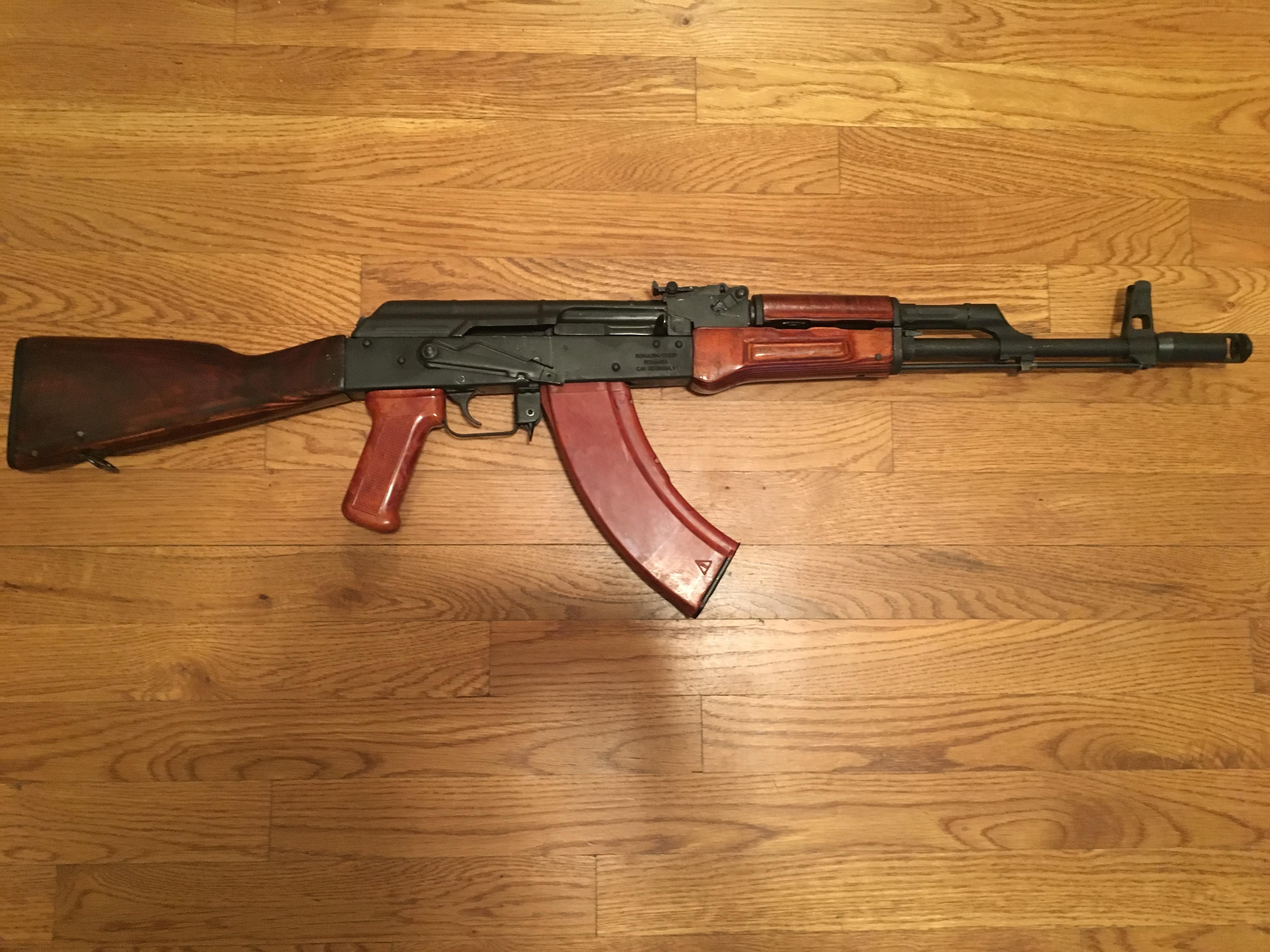 Bakelite  Grip on WASR-10 AK