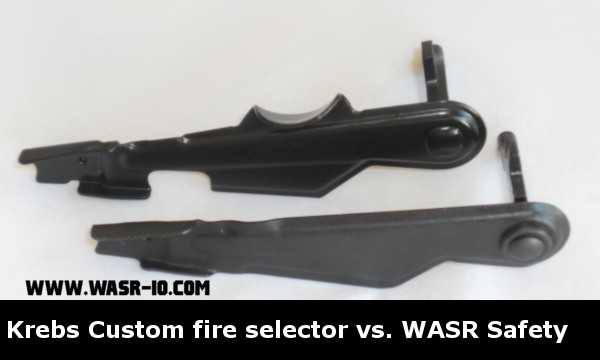 Krebs Custom Guns Enhanced Fire Selector Switch vs WASR-10 safety