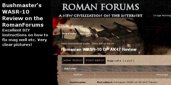 Review by buschmaster @Roman-Forums.Com