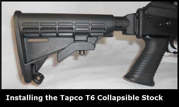 Installing the Tapco INTRAFUSE T6 Collapsible AK-47 Stock