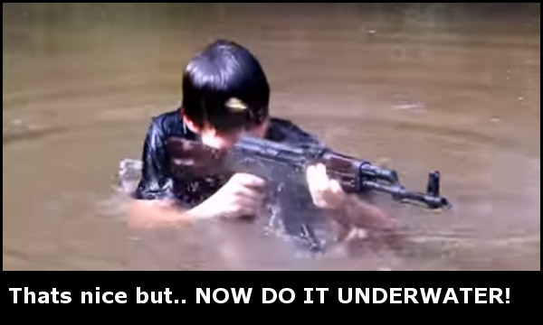 Shooting WASR-10 Underwater