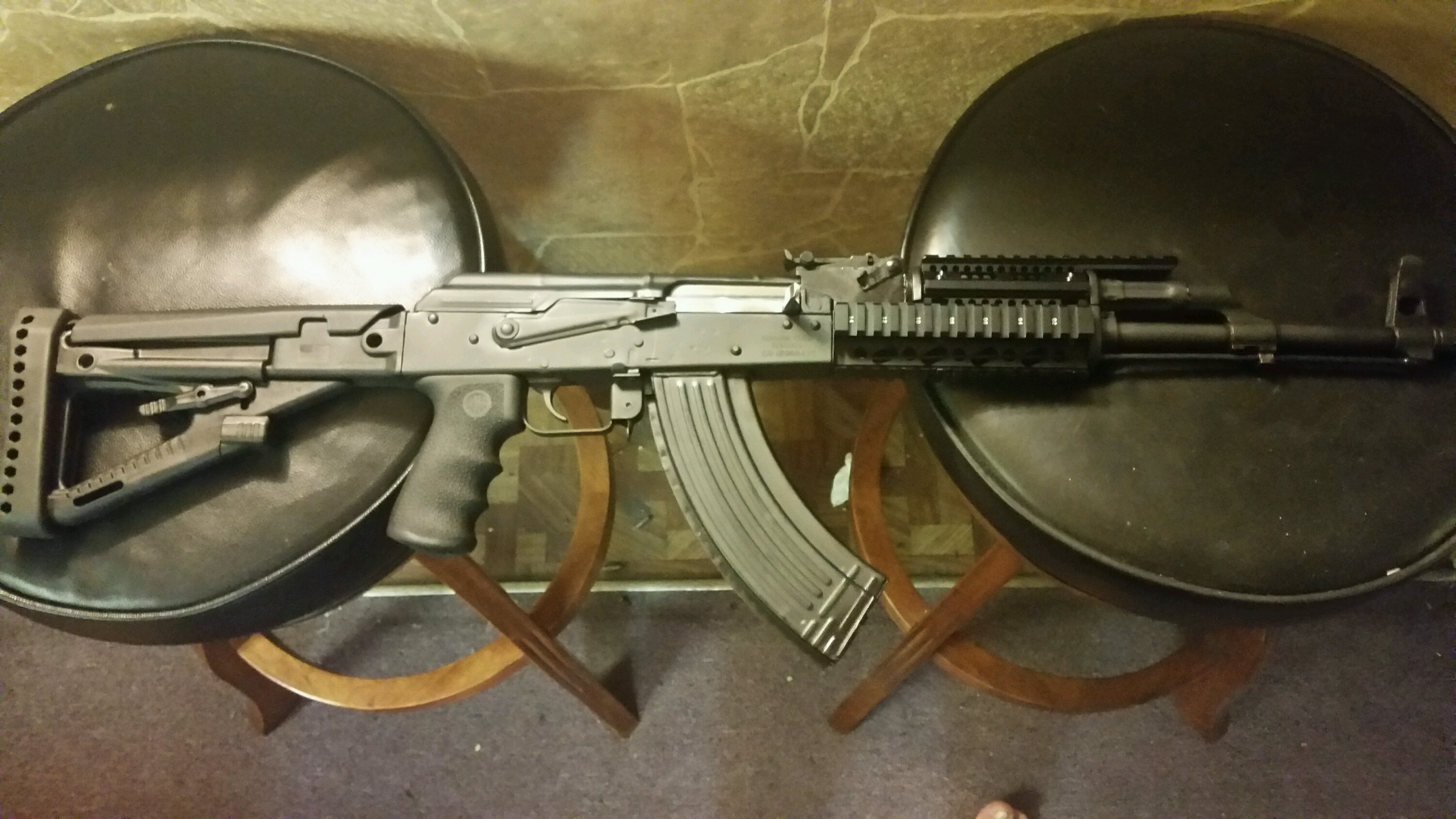 Pro Mag AA123 Archangel OPFOR AK Series Buttstock, Black Polymer