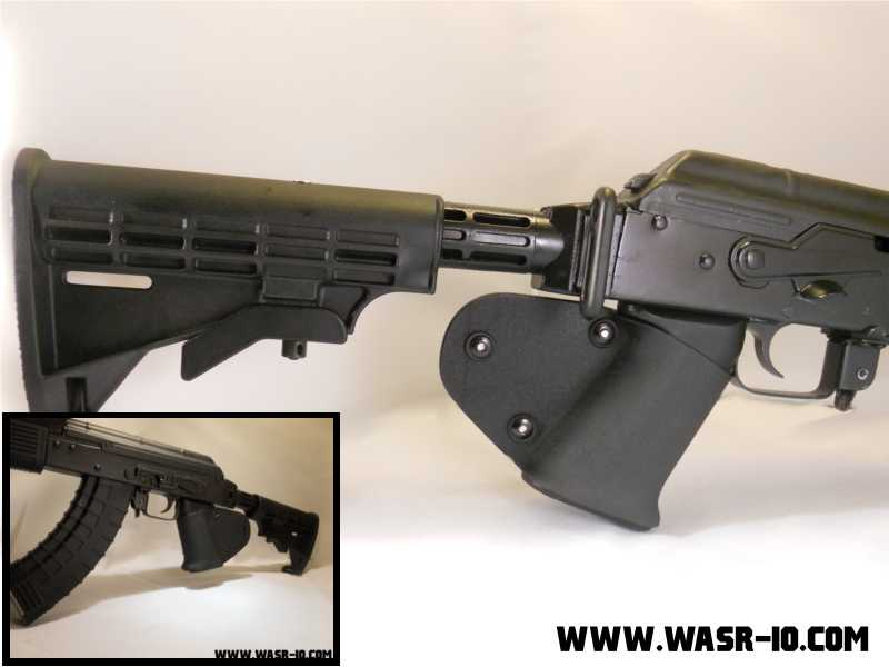 Solar Tactical's Kydex Slip On AK-47 grip on WASR-10