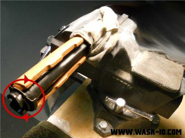 Removing the WASR-10 Hand Guard From the Gas Tube